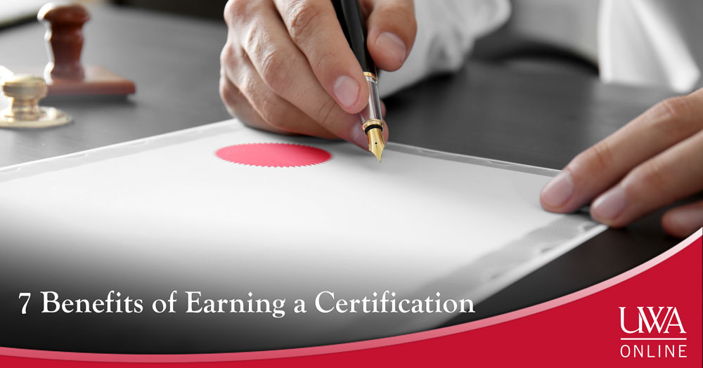 benefits of earning a certification