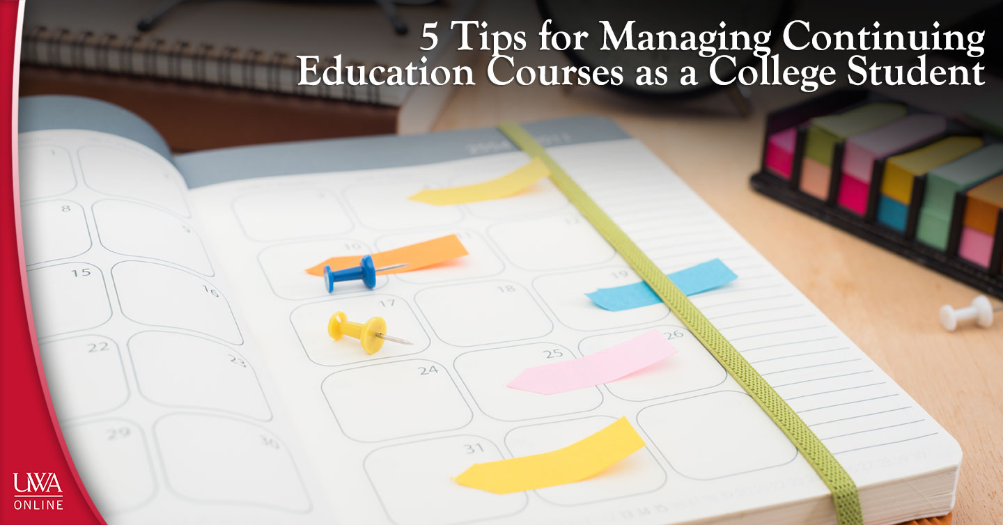 managing continuing education courses as a college student